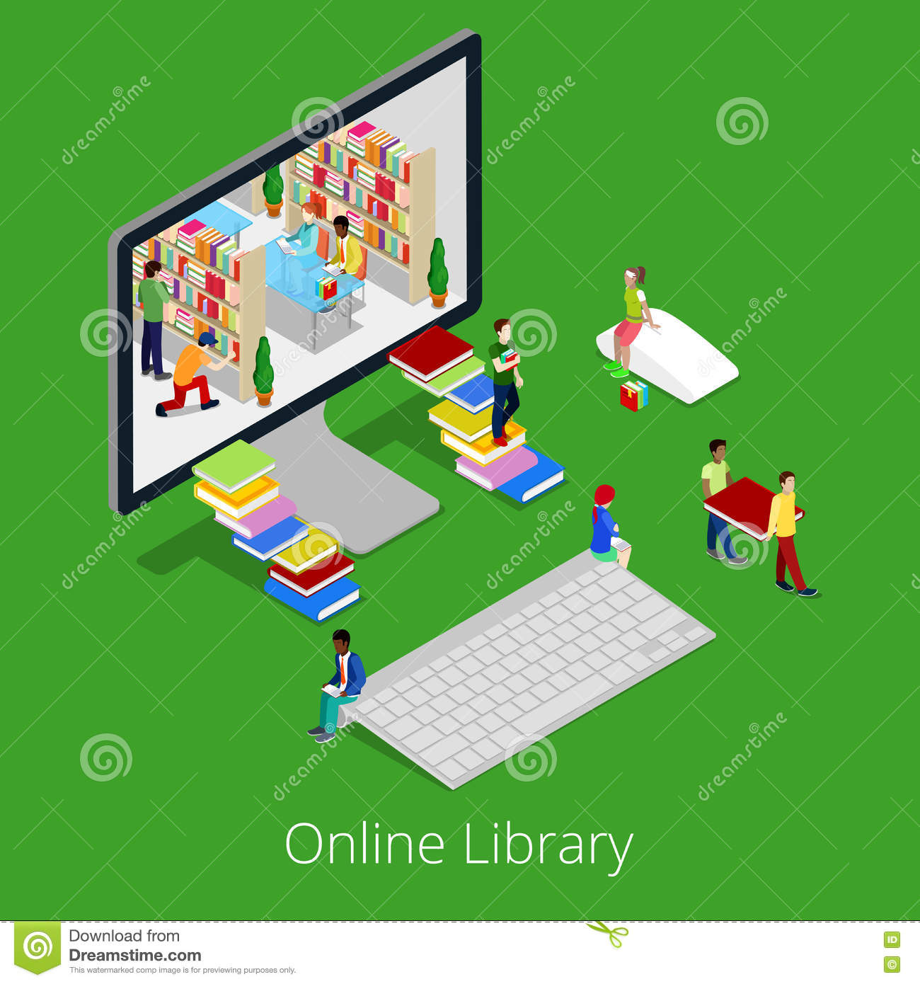 reading ebooks from library on computer